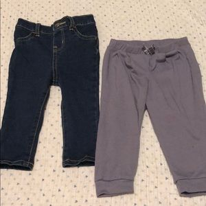 Pair of baby girls jeans and pants 9M